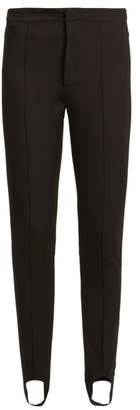 Moncler Stirrup Cuff Jersey Ski Trousers - Womens - Black