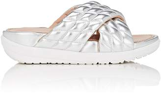 FitFlop LIMITED EDITION Women's Quilted Metallic Leather Slide Sandals