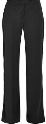 Stella McCartney Fringed Wool Wide-Leg Pants
