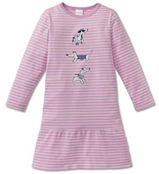 Schiesser Girl's Puppy Love Nachthemd 1/1 Nightie,18-24 Months