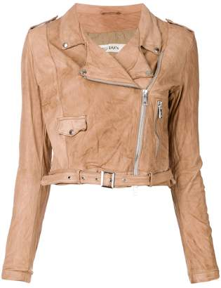 Giorgio Brato cropped motorcycle jacket