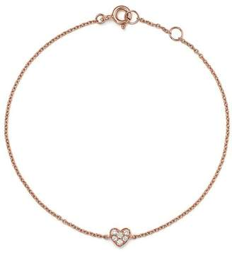 Bloomingdale's Mini Diamond Heart Bracelet in 14K Rose Gold, .07 ct. t.w. - 100% Exclusive