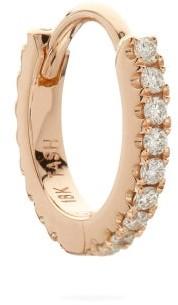 Maria Tash Eternity Diamond & 18kt Rose Gold Single Earring - Womens - Rose Gold