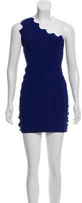 David Koma Patterned Mini Dress