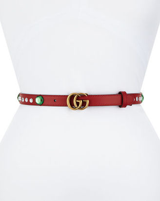 Gucci Crystal Belt w/ Double G Buckle $550 thestylecure.com