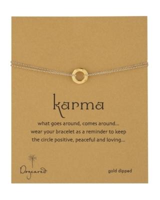 Dogeared Hammered Karma Bracelet