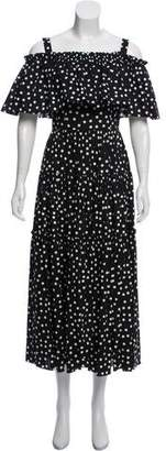 Dolce & Gabbana Polka Dot Maxi Dress