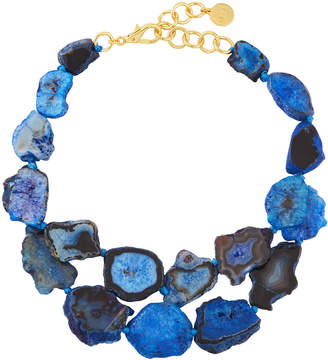 Nest Jewelry Agate Statement Necklace, Blue