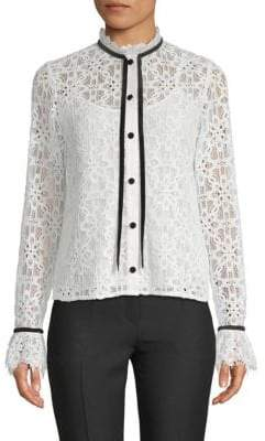 Temperley London Eclipse Lace Button-Down Shirt
