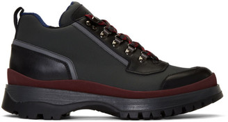 Prada Red and Grey Hybrid Hiking Boots