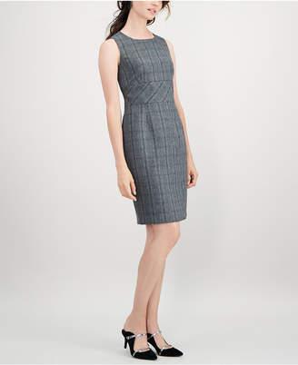 Kasper Petite Plaid Sheath Dress