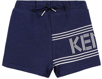 Kenzo Fleece Logo Bermuda Shorts, Size 12-18 Months