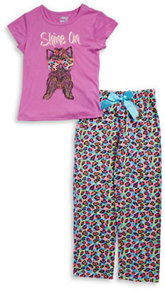 Sleep On It Girls Puppy Tee and Pajama Pants Set $36 thestylecure.com