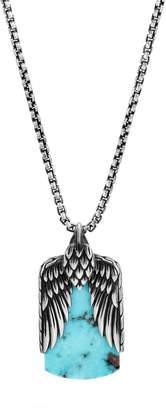 Men's Legends Turquoise & Pyrite Dog Tag Necklace