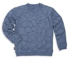 Little Boy's & Boy's Printed Crewneck Sweater