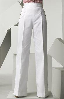 D&G Dolce & Gabbana High Waist Cotton Twill Pants