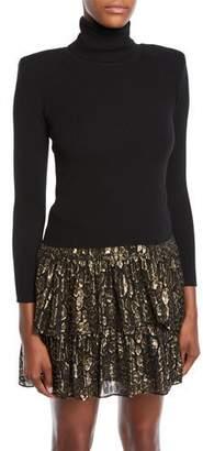 A.L.C. Addison Long-Sleeve Wool Turtleneck Sweater