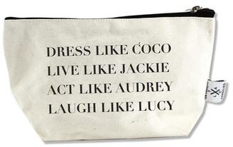 LA TRADING CO. Dress Like Coco Canvas Pouch $16.95 thestylecure.com