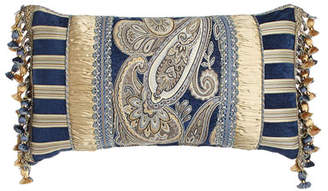 "Austin Horn Collection 13"" x 24"" Pieced Pillow with Onion Trim at Sides"