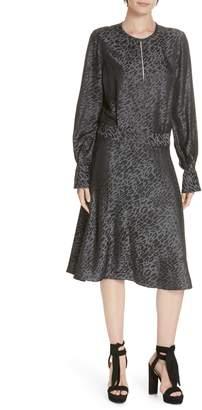 Equipment Magnolia Silk Blend Backless Dress
