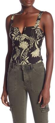 Free People Pippa Print V-Wire Thong Bodysuit