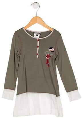 Ikks Girls' Long Sleeve Embellished Dress
