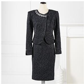 Stacy Adams Jewel Brocade Jacket & Dress $124.95 thestylecure.com