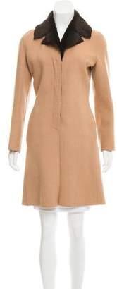 Narciso Rodriguez Fur-Trimmed Wool-Blend Coat