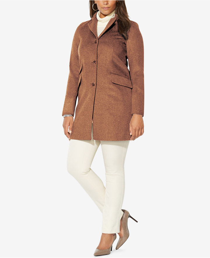 Lauren Ralph LaurenLauren Ralph Lauren Plus Size Single-Breasted Wool Coat, Only at Macy's