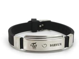 Lomo Fanstown Twice Kpop Titanium Silicon Wristband with Cards Anti-Rust and Water Prove (DAHYUN)