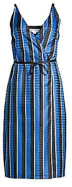 Robert Rodriguez Women's Striped Wrap Dress