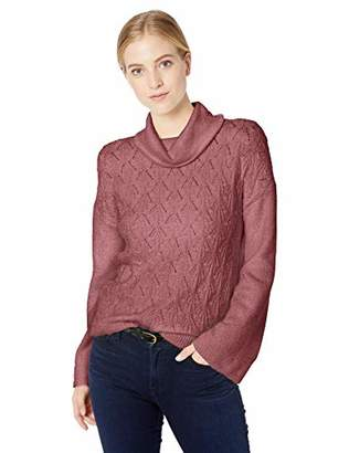 Lucky Brand Women's Pointelle Turtleneck Sweater