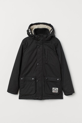 H&M Padded Parka - Black