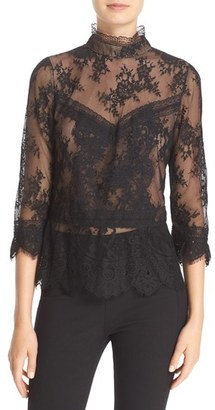 Tracy Reese Chantilly Lace Victorian Blouse $348 thestylecure.com
