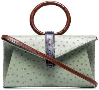 Valery Complét mini ostrich-effect satchel