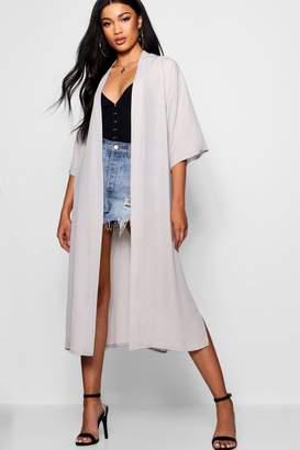 boohoo Midi Chiffon Kimono