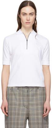 Kenzo White Tiger Crest Zip Polo