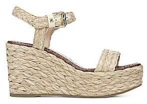 Sam Edelman Women's Deena Raffia Wedge Sandals