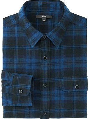 Men Flannel Checked Long Sleeve Shirt $29.90 thestylecure.com