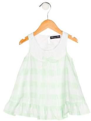 Blumarine Girls' Gingham Print Dress