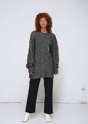 MM6 MAISON MARGIELA Pocket Crew Neck Sweater