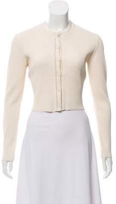 Gucci Textured Long Sleeve Cardigan