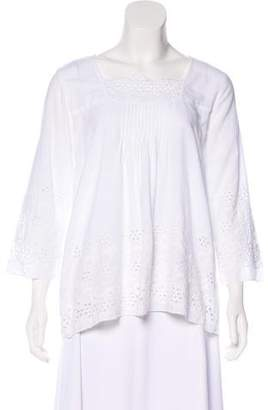 Roberta Roller Rabbit Embroidered Oversize Top
