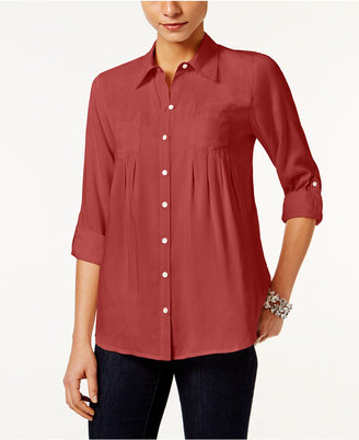 Style & Co Roll-Tab Shirt, Only at Macy's $49.50 thestylecure.com