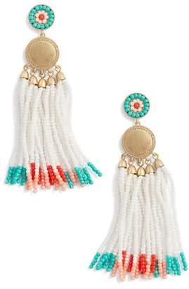 Rebecca Minkoff Luna Beaded Drop Earrings