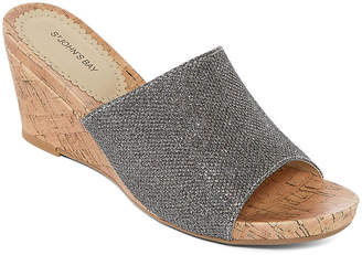 ST. JOHN'S BAY Addison Womens Wedge Sandals