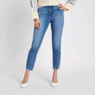 River Island Womens Blue Bella distressed straight leg jeans