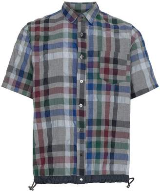 Sacai Grey Sucker Check Shirt