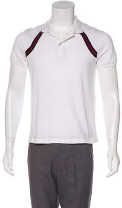 Gucci Web-Trimmed Polo Shirt
