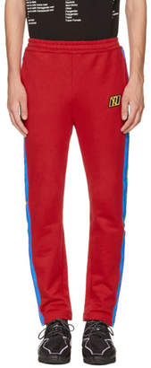 Xander Zhou Red Rainbow Striped Lounge Pants